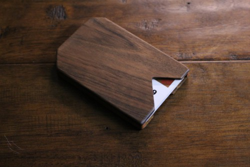 Slim Timber Card Wood Wallet For Men