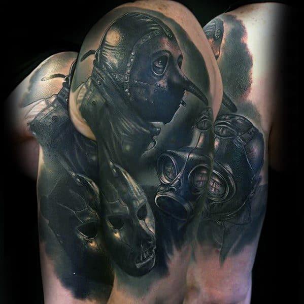 50 Slipknot Tattoos For Men – Heavy Metal Band Design Ideas