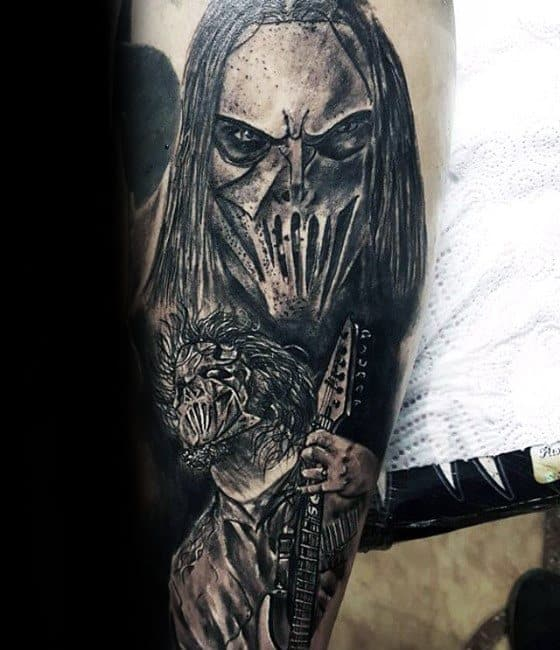 50 slipknot tattoos for heavy metal band design ideas