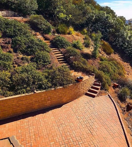 Slope Brick Patio Backyard Ideas