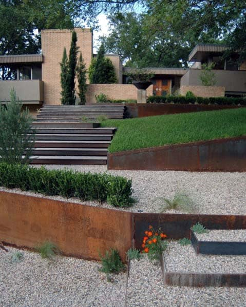 Slope Exterior Ideas Gravel Landscaping