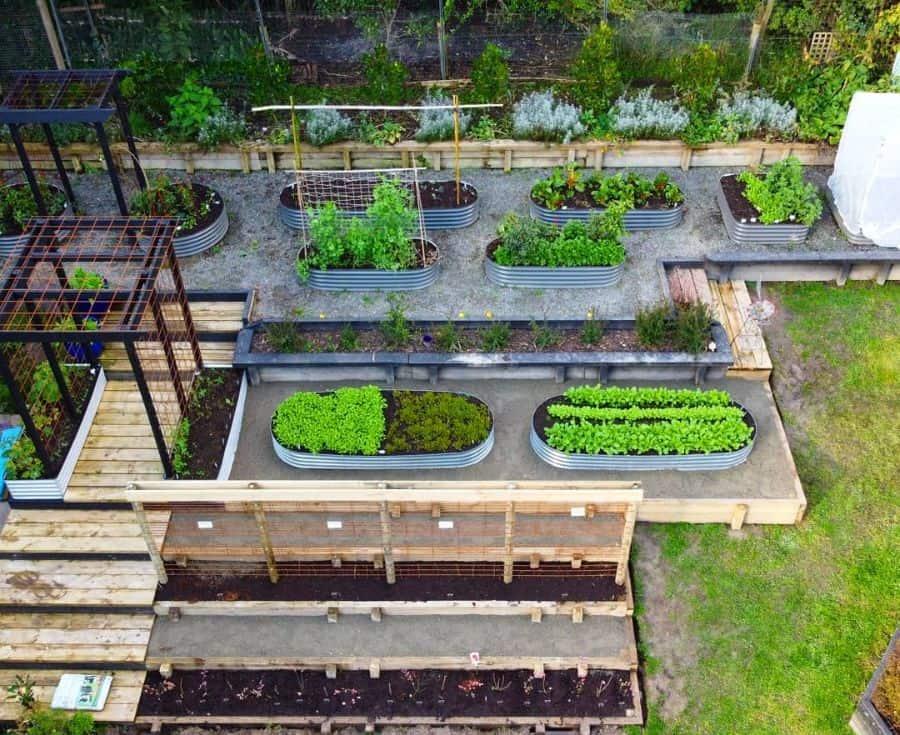 slope garden or multilevel raised bed raised garden bed ideas buttenshawbackyardfarm