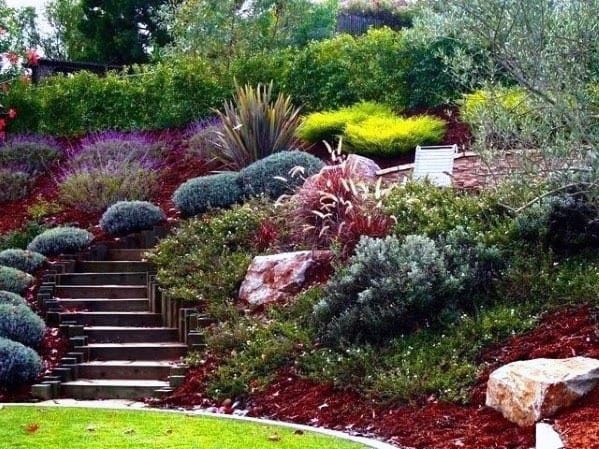 Slope Landscaping Backyard Stairs Ideas