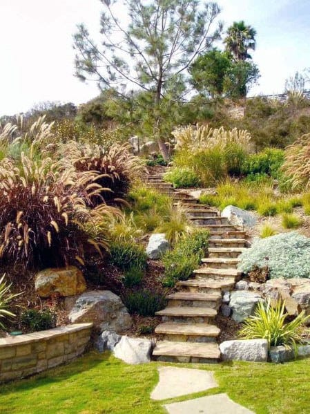 Slope Landscaping Cool Exterior Ideas