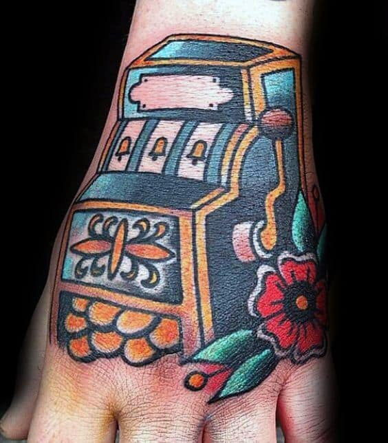 Slot Machine Guys Tattoo Ideas On Hand