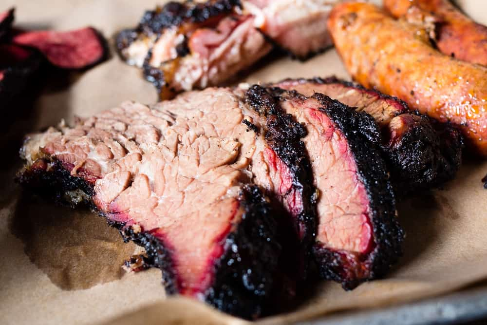 slow smoke sliced beef southern style closeup