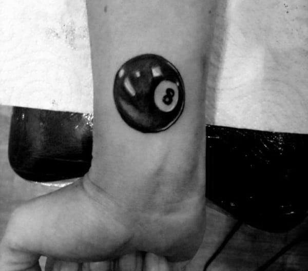 Small 8 Ball Tattoo