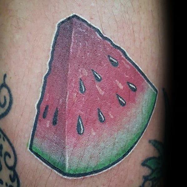 Small Arm Amazing Mens Watermelon Tattoo Designs