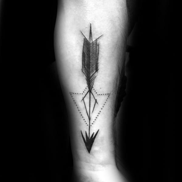 Small Arrow Mens Tattoo Ideas Forearm