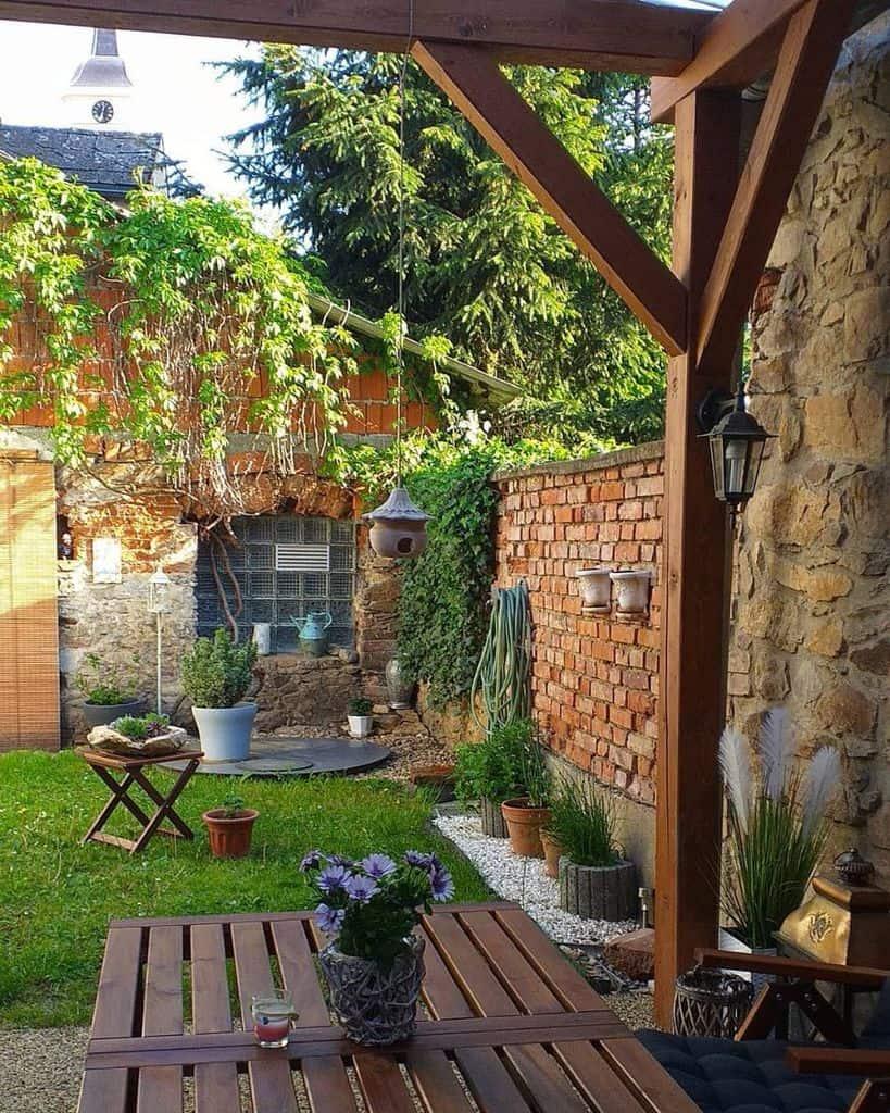 small backyard container garden ideas bydlime.v.podzamci