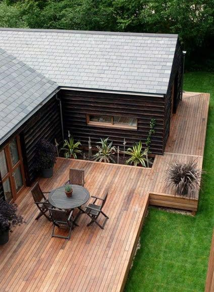 Small Backyard Decks - Top 60 Best Backyard Deck Ideas - Wood And Composite Decking Designs