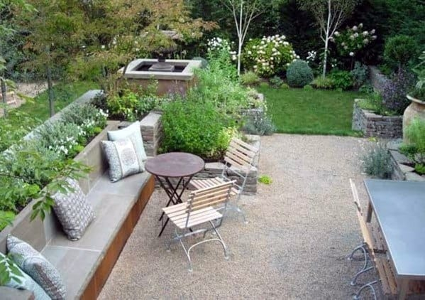 Small Backyard Design Ideas Gravel Patio