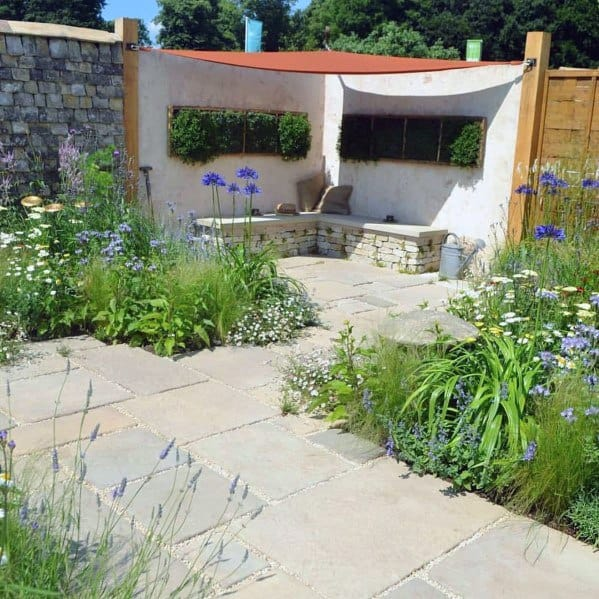 Top 60 Best Flagstone Patio Ideas - Hardscape Designs on Flagstone Backyard Patio id=54898