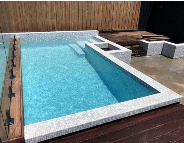 Top 60 Best Home Swimming Pool Tile Ideas - Backyard Oasis Designs