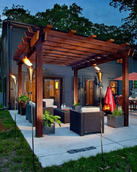 Top 60 Best Outdoor Patio Ideas - Backyard Lounge Designs on Small Outdoor Covered Patio Ideas id=24229