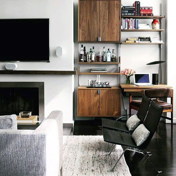 Small Bar Bachelor Pad Living Room Ideas