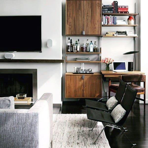 Small Bar Bachelor Pad Living Room Ideas