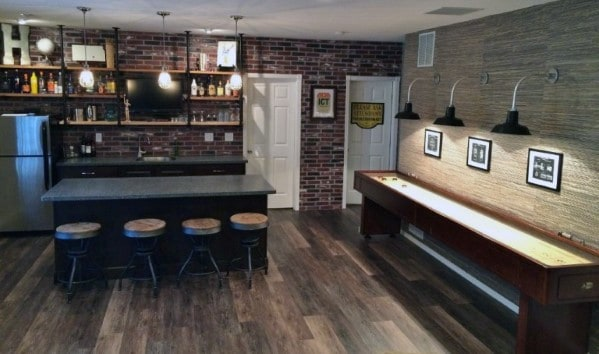 Basement Man Cave Design Ideas For Men on rustic barn design ideas