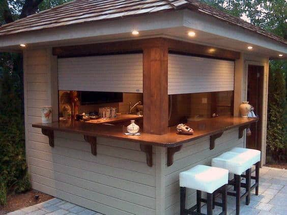 Small Bar Shed Ideas With Window
