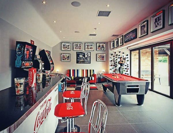 Small Bar With Pool Table Mens Game Room Ideas