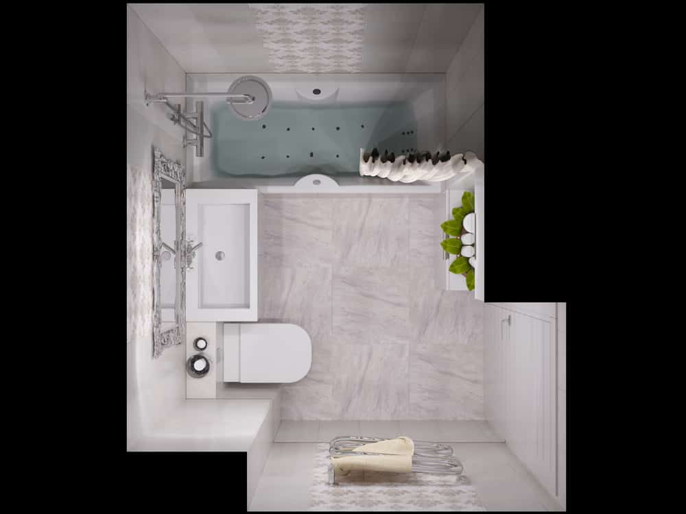 Small Bathroom Layout Ideas 1