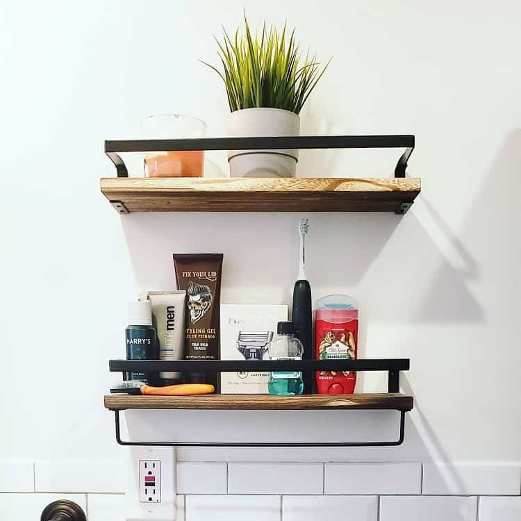 Small Bathroom Toiletries Shelf Thegeelifestyle
