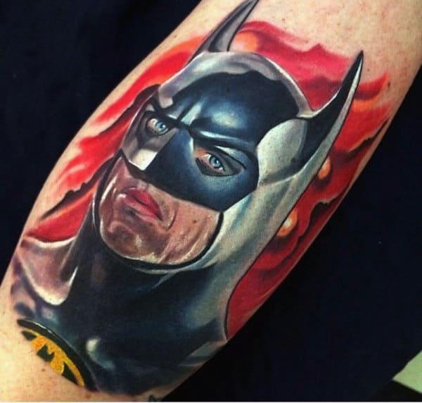 Small Batman Tattoos For Men