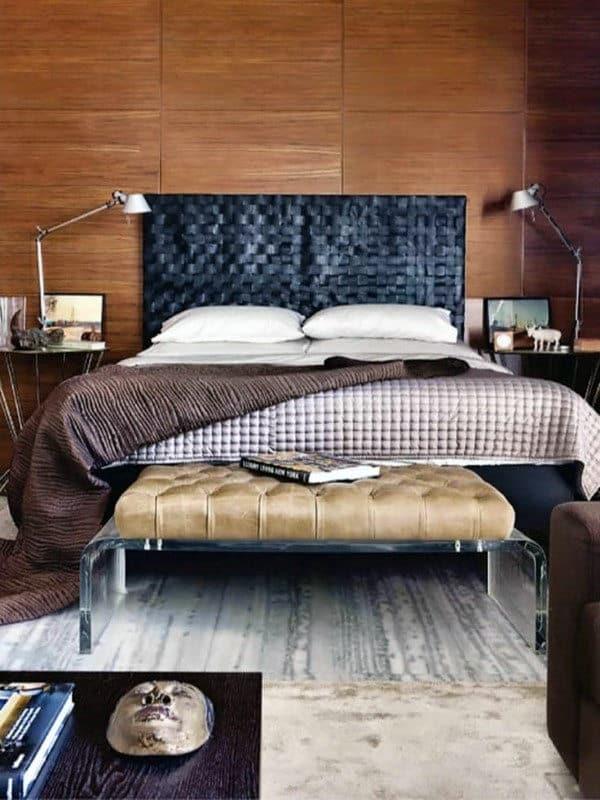60 Men's Bedroom Ideas - Masculine Interior Design Inspiration on Small Room Decor Ideas For Guys  id=87387