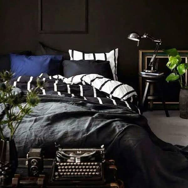 Small Bedroom Designs For Men Black Stripes