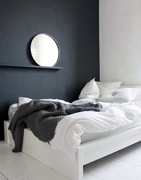 Small Bedroom Ideas For Men Black Wall With White Bedding