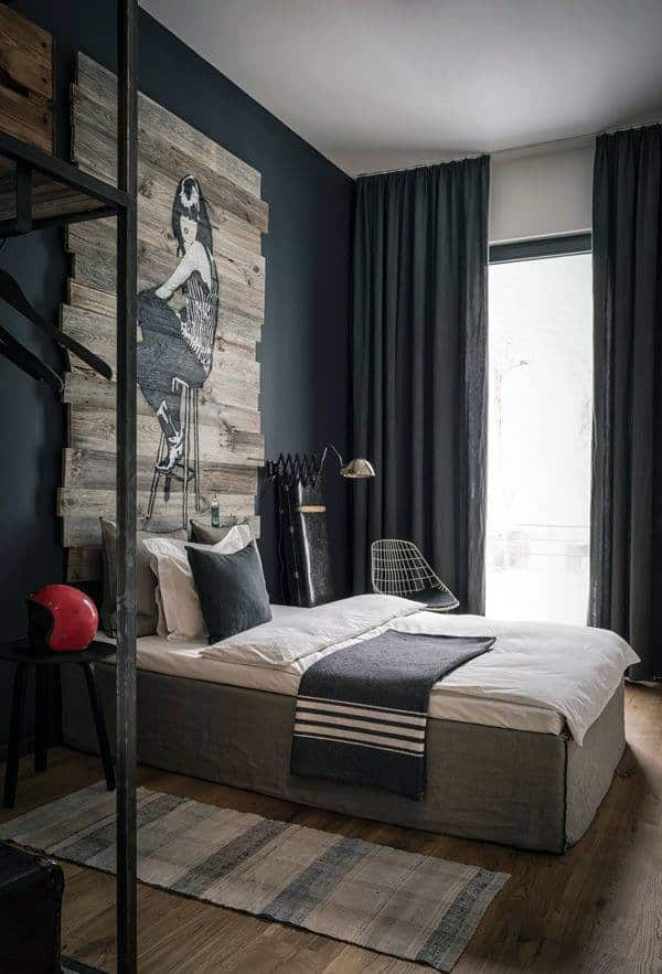40 Men's Bedroom Ideas Masculine Interior Design Inspiration Fascinating Small Contemporary Bedrooms Concept Design