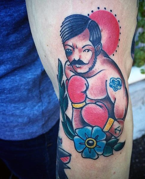 40 Boxing Tattoos For Men - A Gloved Punch Of Manly Ideas