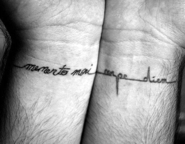 Small Carpe Diem Wrist Tattoos For Men