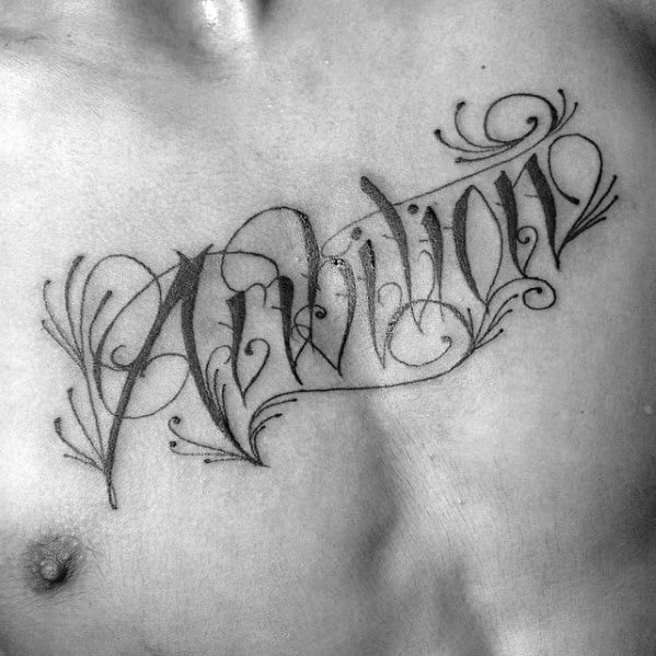 Small Chest Male Ambition Tattoo Ideas