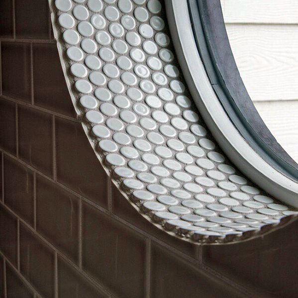 Small Circle Tiles Shower Window Ideas