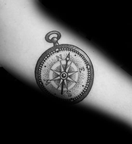 Small Compass Tattoo Inspiration For Men