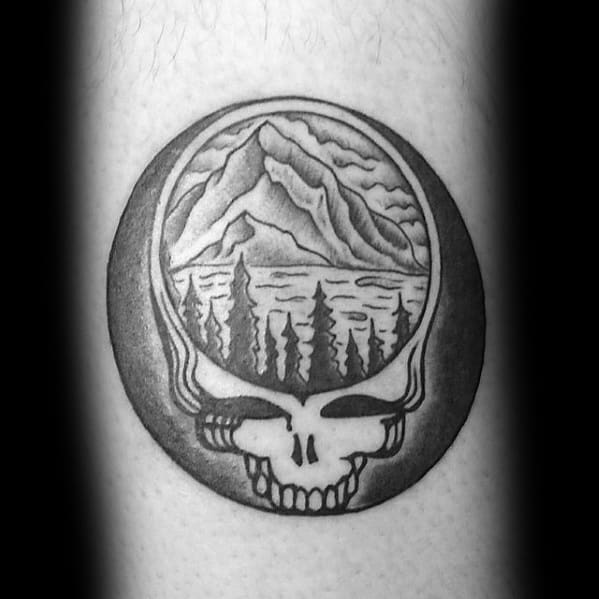 Small Cool Grateful Dead Tattoo Design Ideas For Male