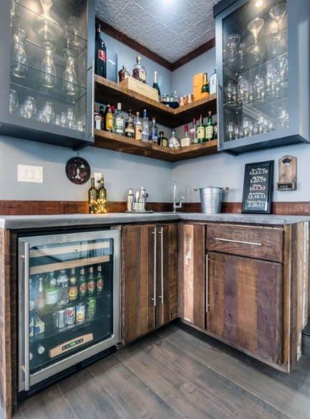 Small Corner Wet Bar Ideas