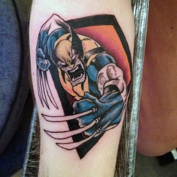 Small Detailed Guys Wolverine Inner Forearm Tattoos