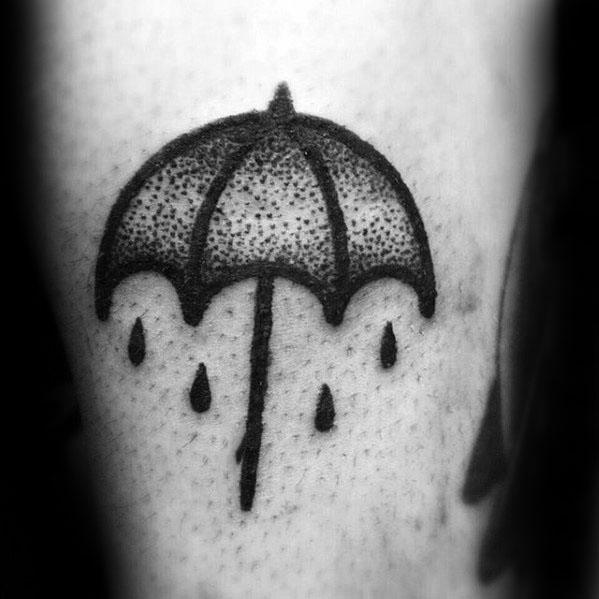 Small Dotwork Arm Umbrella Guys Tattoos