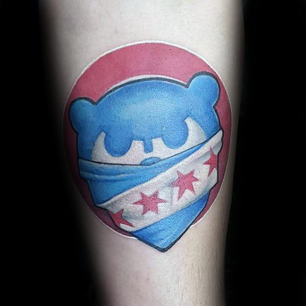 Small Forearm Male Chicago Cubs Tattoos