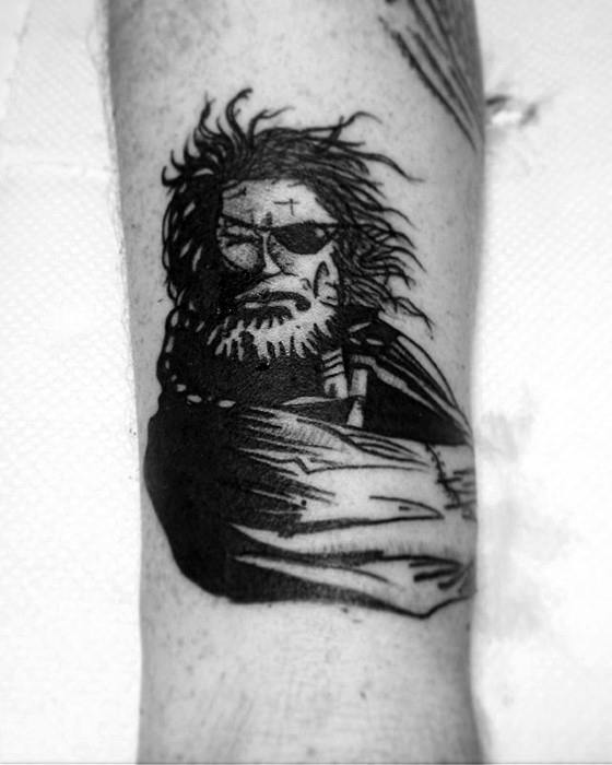 Small Forearm Male Tattoo With Big Boss Metal Gear Design