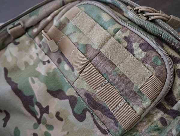 Small Front Top Pocket Closed With Molle Panel 5 11 Tactical Rush72 Backpack