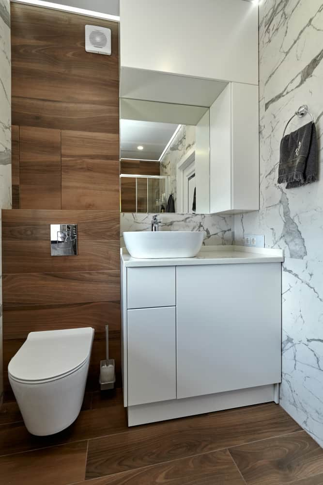 wall and in-wall storage bathroom storage ideas
