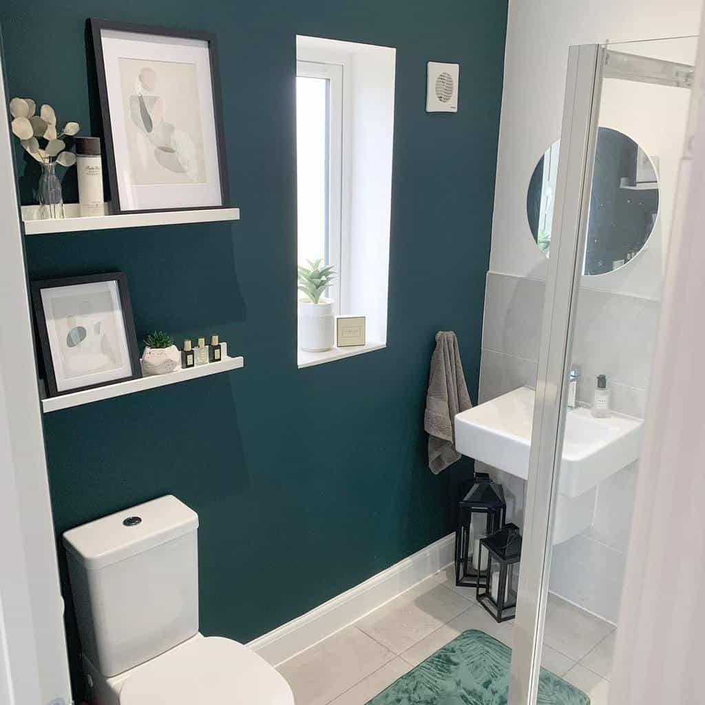 feature wall small bathroom paint ideas