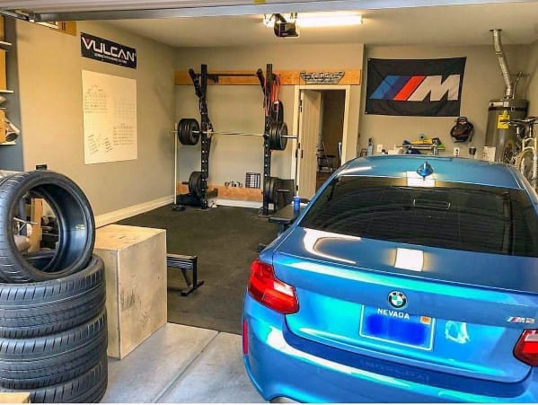 Small Garage Gym Ideas With Room For Parking One Car