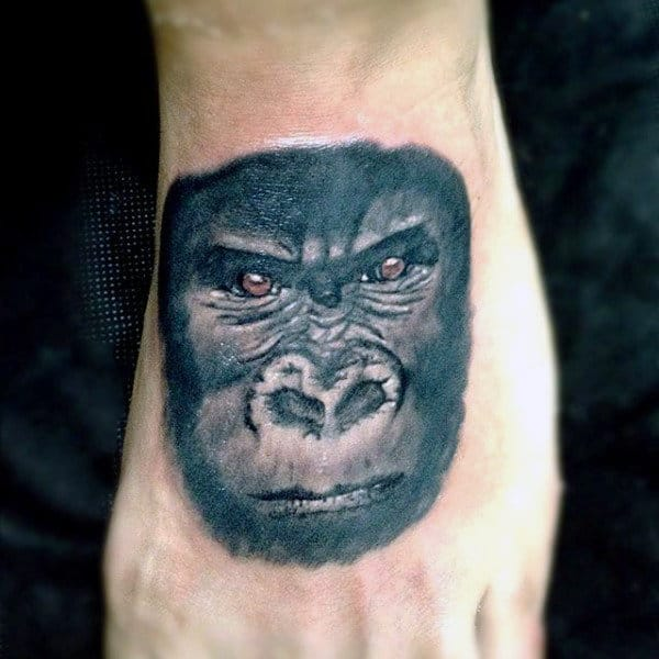Small Gorilla Foot Mens Tattoos