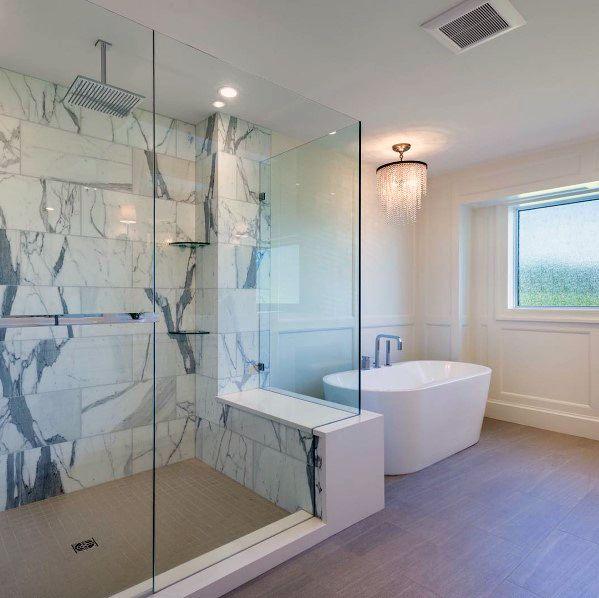 Small Grey Square Shower Flooring Ideas