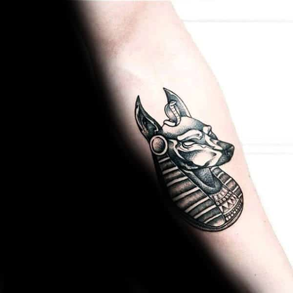 Small Guys Anubis Inner Forearm Egyptian Tattoos