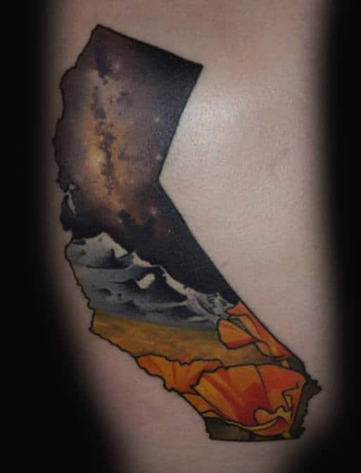 Small Guys California Outdoor Night Sky Tattoos